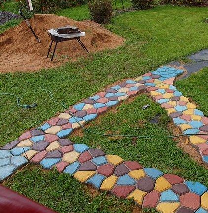 фото форма для садовой дорожки